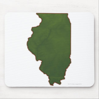 Map of Illinois 2 Mouse Pad