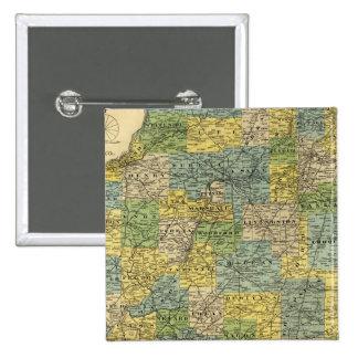 Map of Illinois 2 Pinback Button