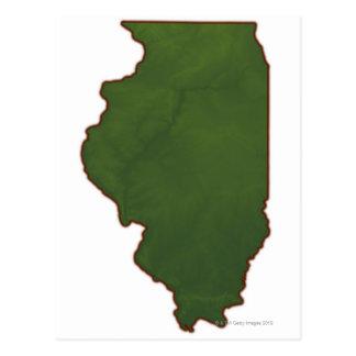 Map of Illinois 2 Postcard