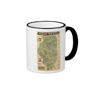 Map of Illinois 2 Ringer Mug