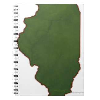 Map of Illinois 2 Spiral Notebook