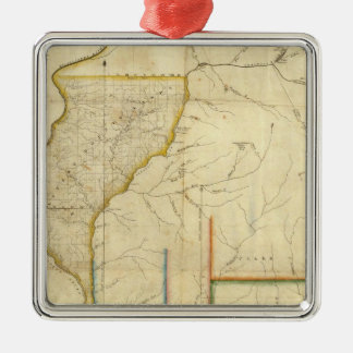Map of Illinois 3 Metal Ornament