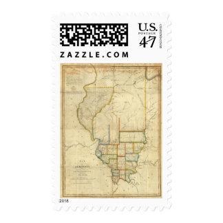 Map of Illinois 3 Postage