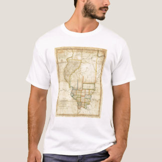Map of Illinois 3 T-Shirt