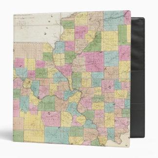 Map of Illinois & Missouri 3 Ring Binder