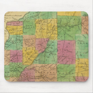 Map of Illinois Mouse Pad