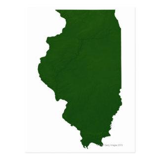 Map of Illinois Postcard