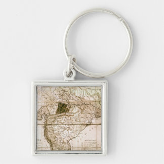 Map of India, 1803 Keychain