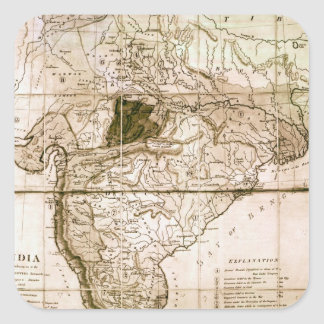 Map of India, 1803 Square Sticker
