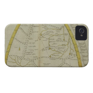 Map of India and Central Asia iPhone 4 Cases