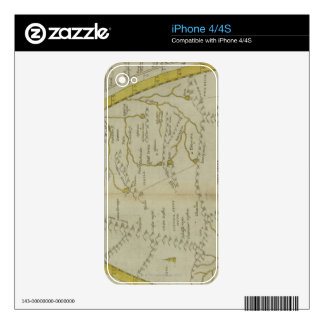 Map of India and Central Asia Skin For iPhone 4