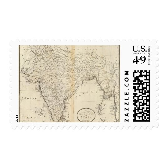 Map of India Postage