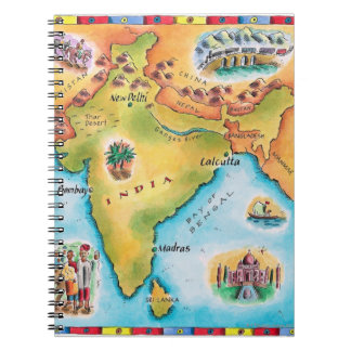 Map of India Spiral Note Books