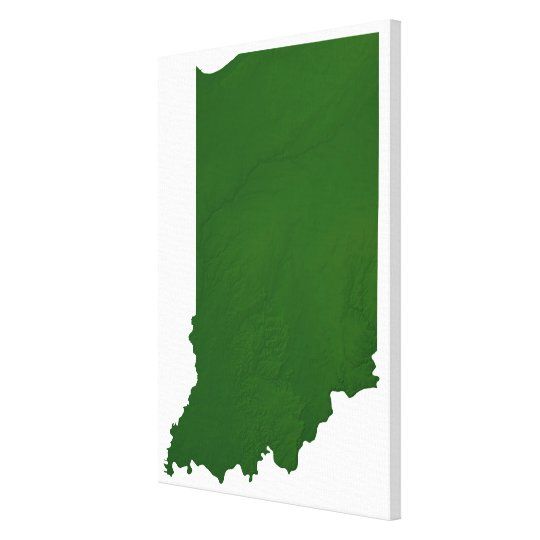Map of Indiana 2 Canvas Print