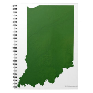 Map of Indiana 2 Spiral Notebook