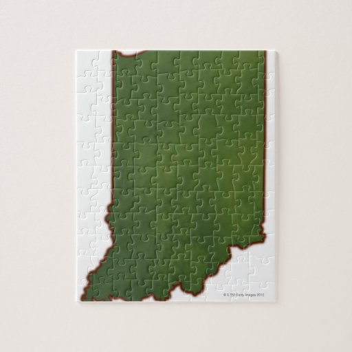 Map of Indiana 3 Jigsaw Puzzles