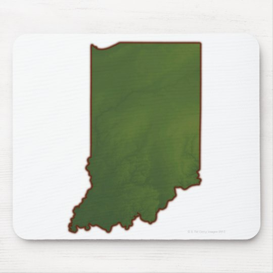 Map of Indiana 3 Mouse Pad