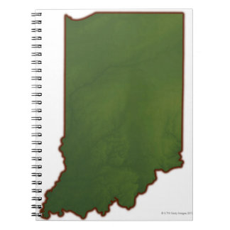 Map of Indiana 3 Notebook