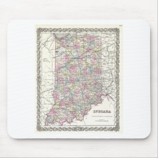 Map of Indiana. Joseph Hutchins Colton Mouse Pad