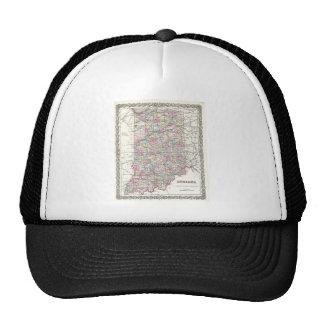 Map of Indiana. Joseph Hutchins Colton Trucker Hat