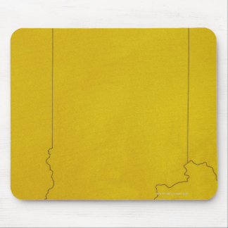 Map of Indiana Mouse Pad