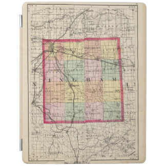 Map of Ingham County, Michigan iPad Cover