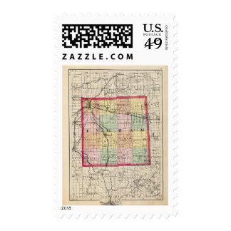 Map of Ingham County, Michigan Postage Stamps