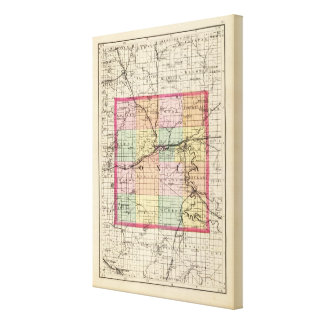 Map of Ionia County, Michigan Canvas Print