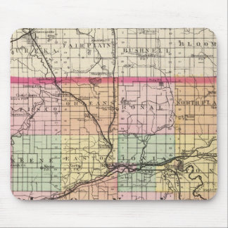 Map of Ionia County, Michigan Mouse Pad