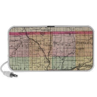 Map of Ionia County, Michigan Portable Speaker