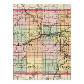 Map of Ionia County, Michigan Postcard