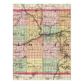 Map of Ionia County, Michigan Postcard