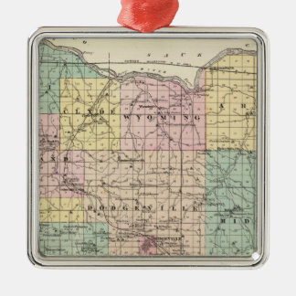 Map of Iowa County, State of Wisconsin Ornaments