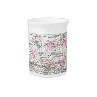Map of Iowa. Joseph Hutchins Colton Drink Pitcher
