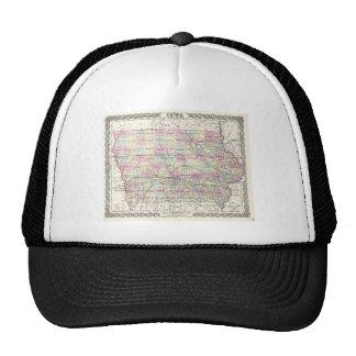 Map of Iowa. Joseph Hutchins Colton Trucker Hat