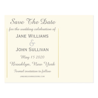 Map of Ireland 1862 Wedding Save The Date Postcard