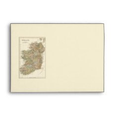 Map Of Ireland 1862 Wedding Stationery Envelope at Zazzle