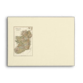 Map Of Ireland 1862 Wedding Stationery Envelope by DigitalDreambuilder at Zazzle
