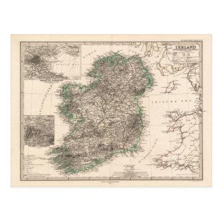 Map of Ireland (1876) Postcards