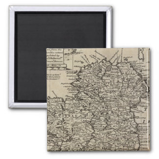 Map of Ireland 2 Inch Square Magnet