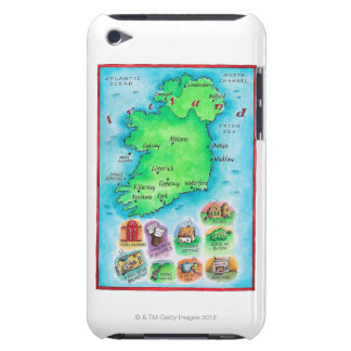 Map of Ireland Barely There iPod Case