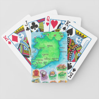Map of Ireland Bicycle Playing Cards