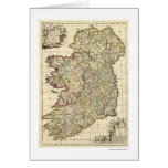 Map of Ireland by Frederik de Wit 1710 Card