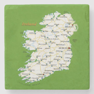 Map Of Ireland Coasters
