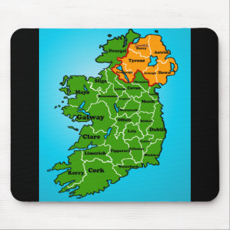 Map of Ireland (counties) Mouse Pad