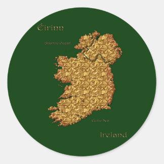 Map of Ireland Eire Erin Quality Gift Classic Round Sticker