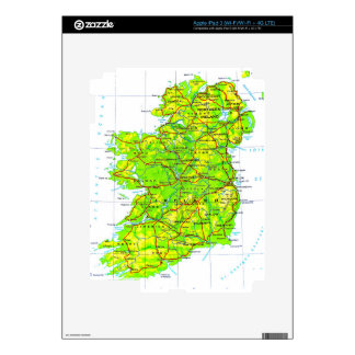 Map of Ireland Emerald Isle St Patrick's Day Decal For iPad 3