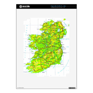 Map of Ireland Emerald Isle St Patrick's Day Skin For iPad 2