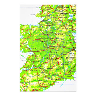 Map of Ireland Emerald Isle St Patrick's Day Stationery
