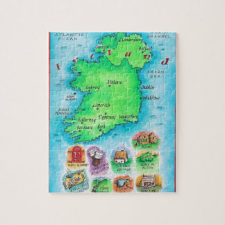 Map of Ireland Jigsaw Puzzle
